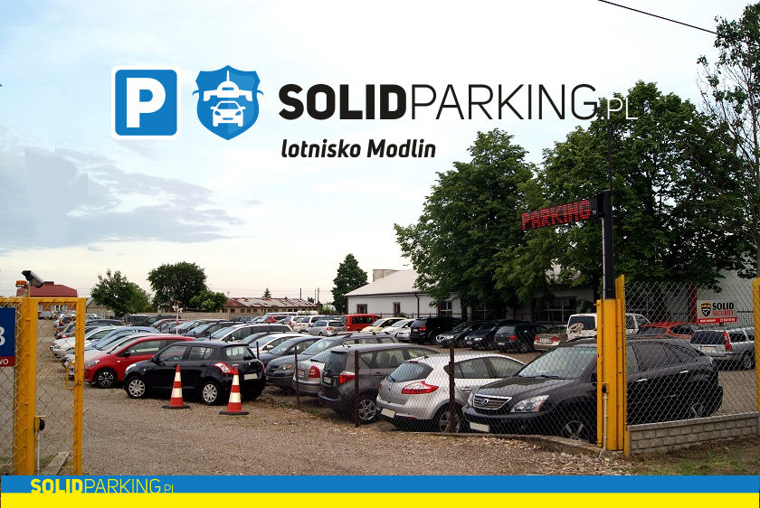 widok na parking modlin
